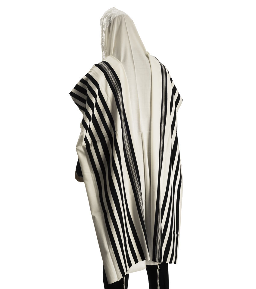Tallit sized to be worn traditional style